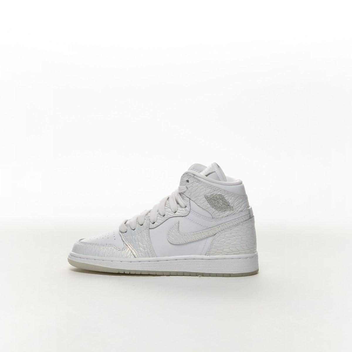 61186bd5318a28 Air Jordan 1 Retro High Premium Heiress - WHITE PURE PLATINUM WHITE ...