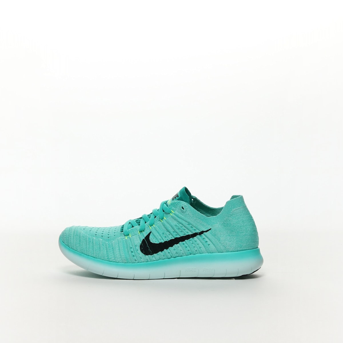 1d808715ad33 Women s Nike Free RN Flyknit Running Shoe - HYPER TURQ BLACK-VOLT ...