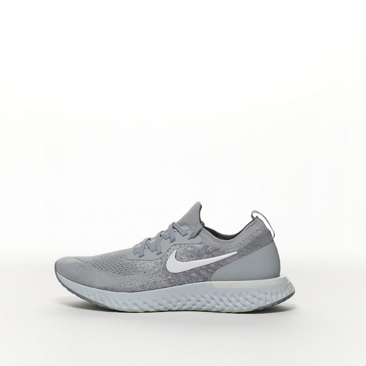 330b43305529b Nike Epic React Flyknit - WOLF GREY COOL GREY PURE PLATINUM WHITE – Resku