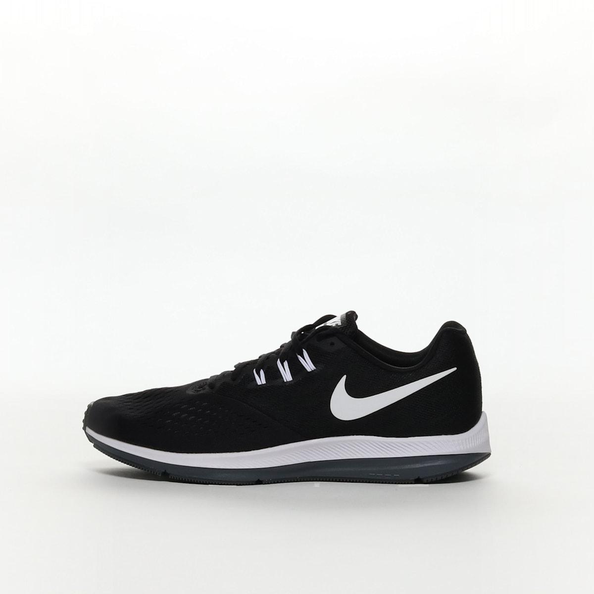 dc9410c607137 Men s Nike Air Zoom Winflo 4 Running Shoe - BLACK WHITE-DARK GREY ...