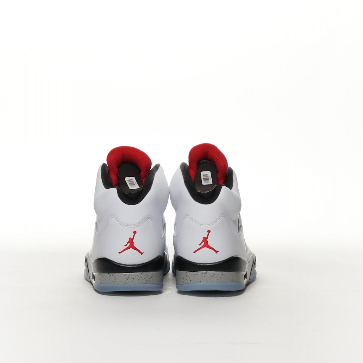248c9255a327 Air Jordan 5 Retro - WHITE BLACK MATTE SILVER UNIVERSITY RED – Resku