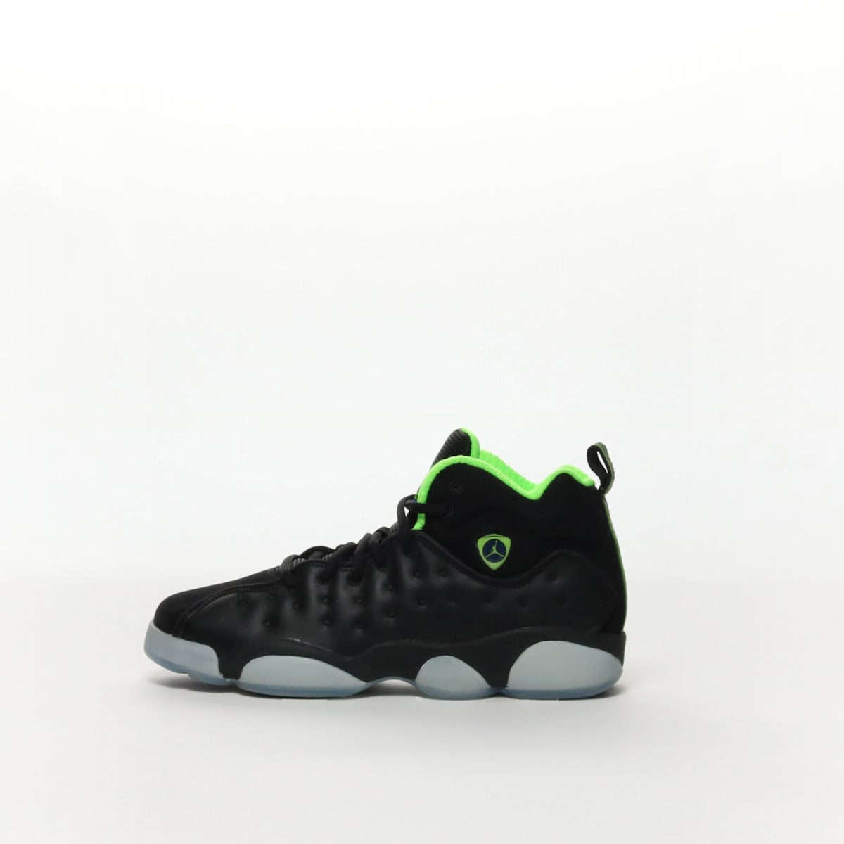 58d5197633be Boys  Jordan Jumpman Team II Premium (GS) Shoe - BLACK ELECTRIC ...