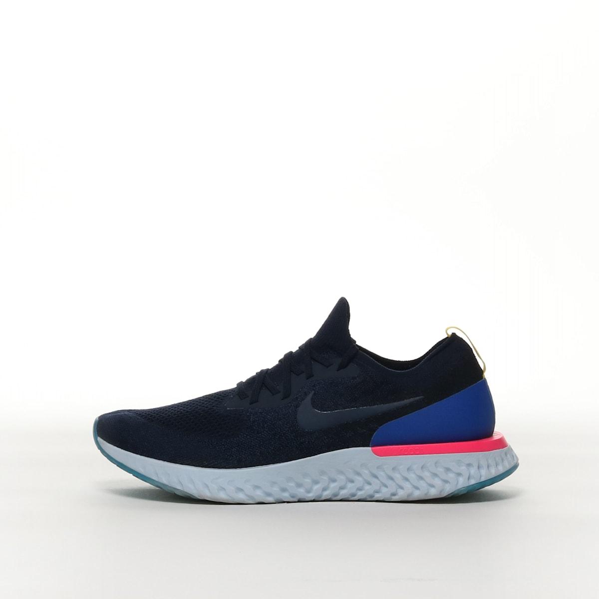 46eb8bb94d0 Nike Epic React Flyknit 1 - COLLEGE NAVY RACER BLUE PINK BLAST COLLEGE –  Resku