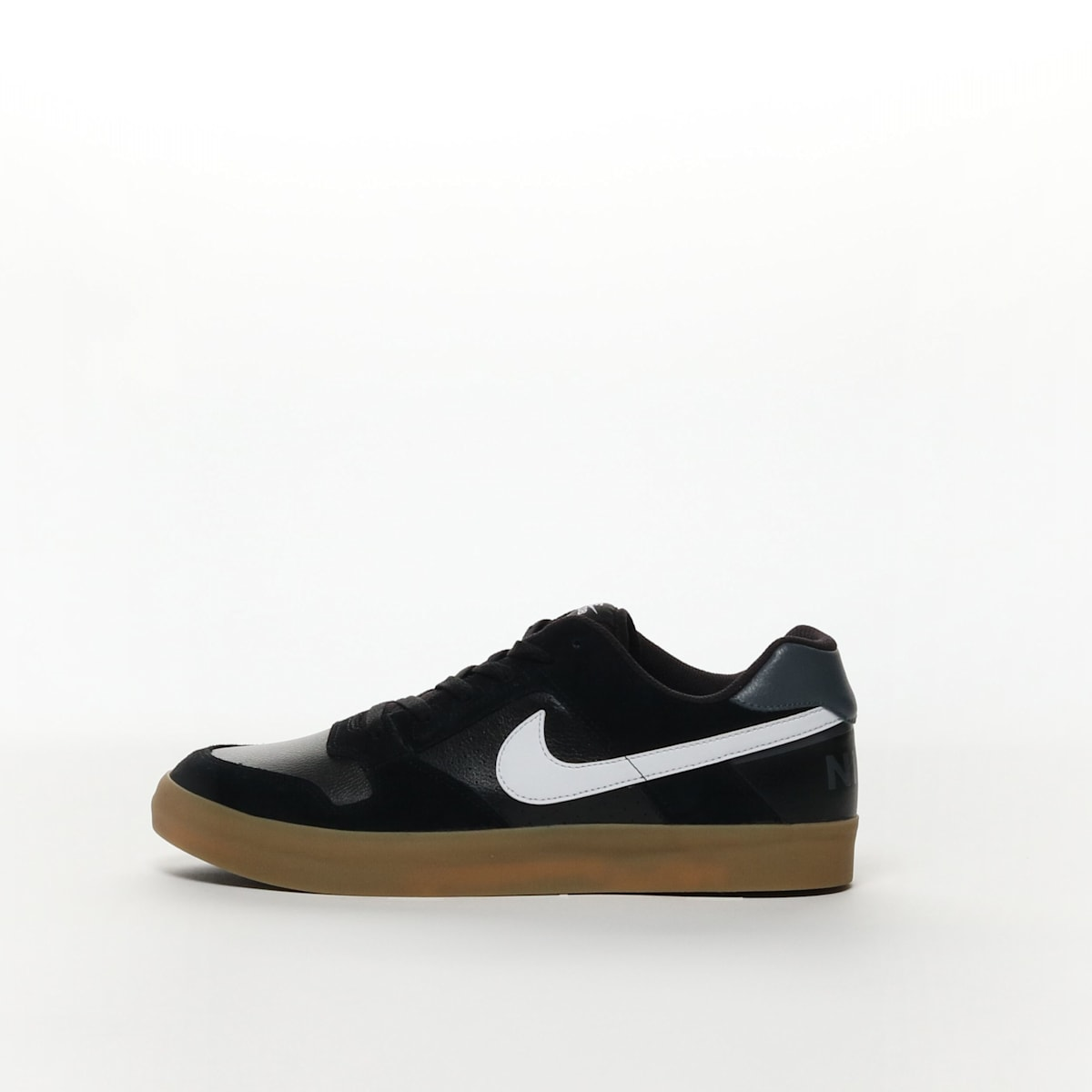 fcd426d0cc8a05 Men s Nike SB Delta Force Vulc Skateboarding Shoe - BLACK WHITE-GUM ...