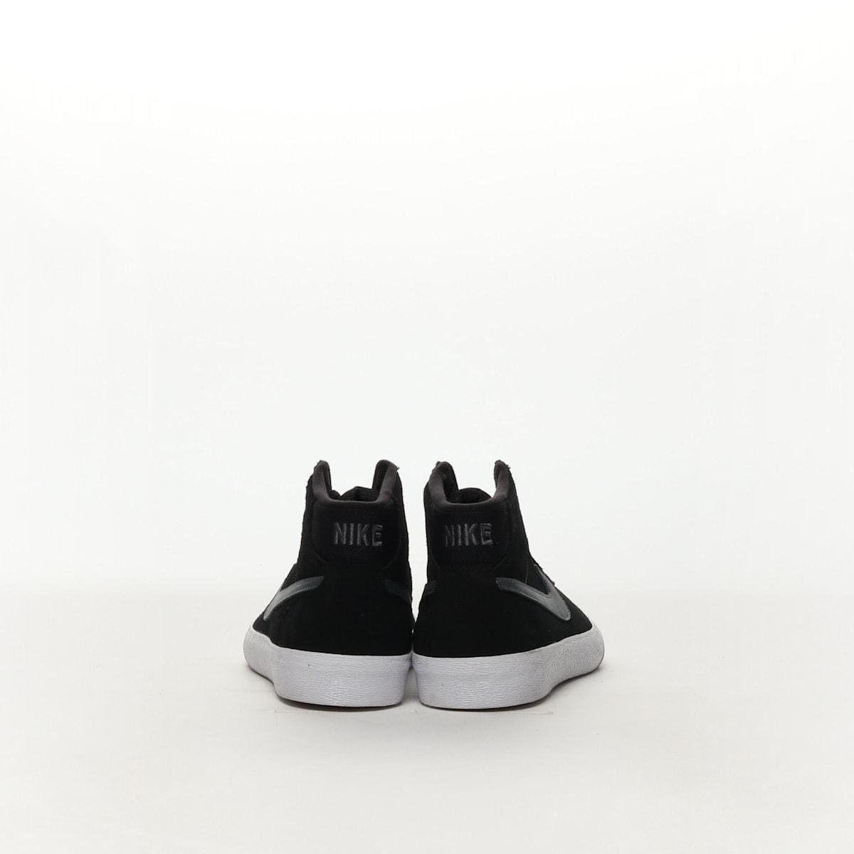 Women s Nike SB Bruin Hi Skateboarding Shoe - BLACK DARK GREY-WHITE d794fd35d