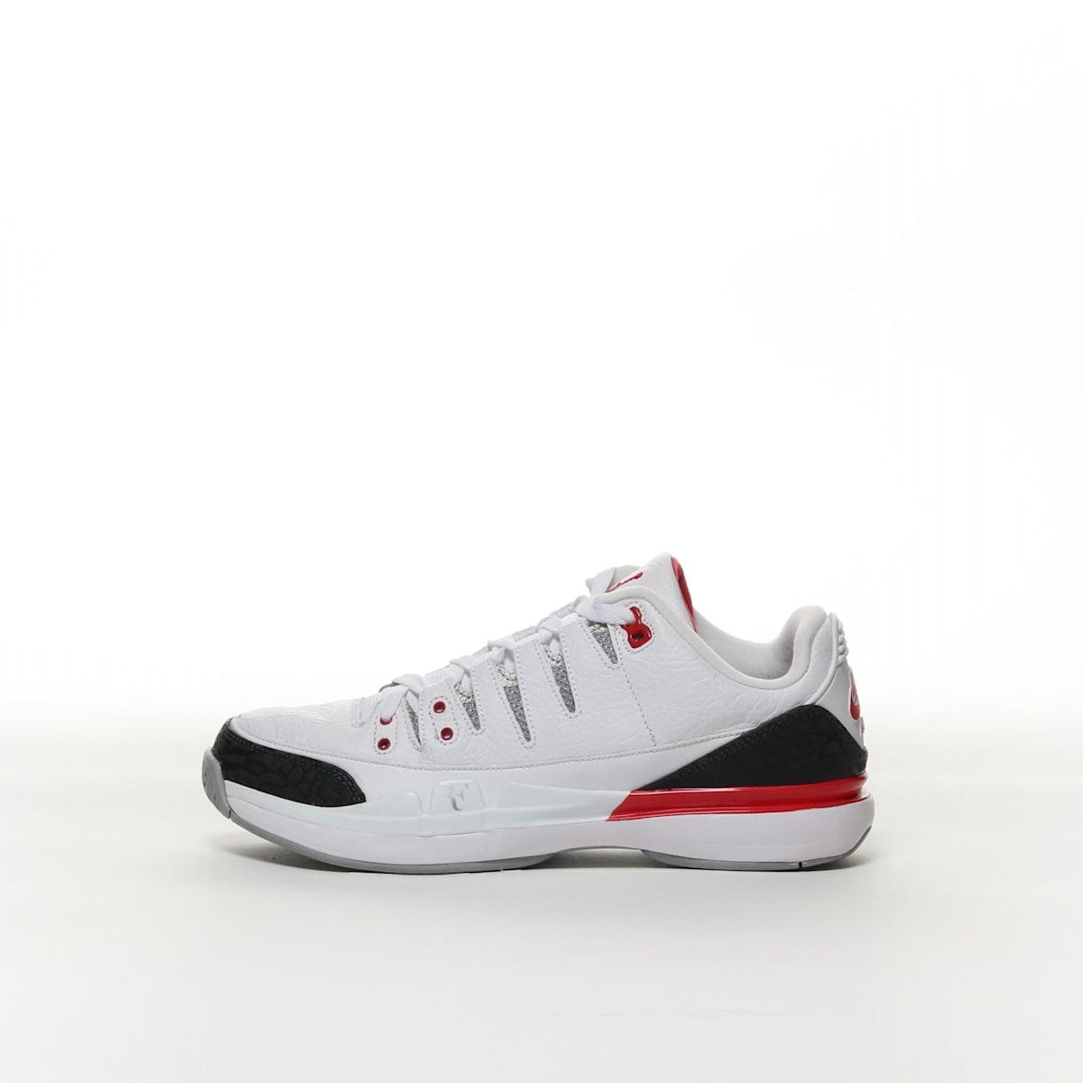 c0f17a0a872347 Nike Zoom Vapor AJ3 - WHITE SILVER BLACK FIRE RED – Resku