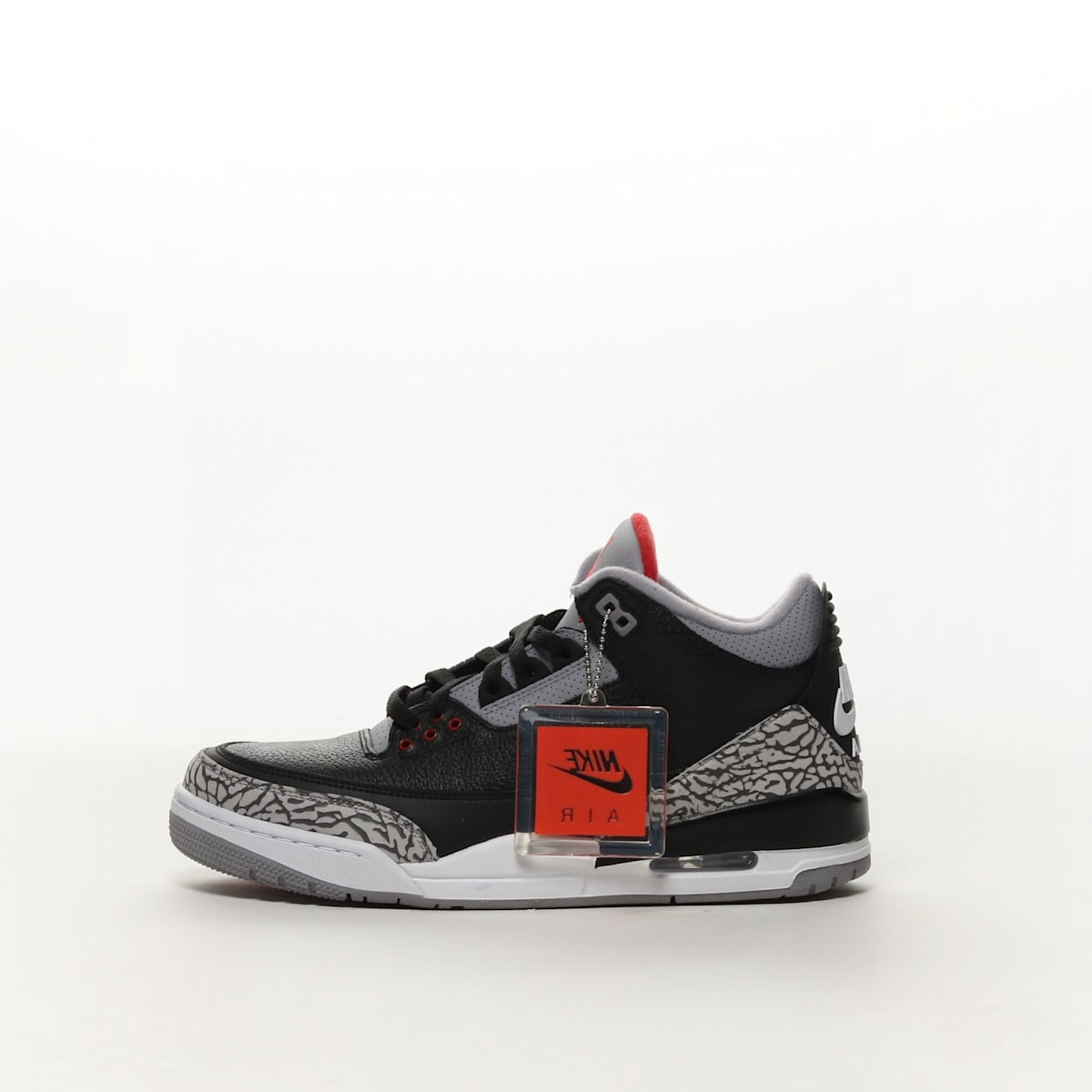 5c16a8413e1d71 Men s Air Jordan 3 Retro OG Shoe - BLACK FIRE RED-CEMENT GREY-WHITE ...