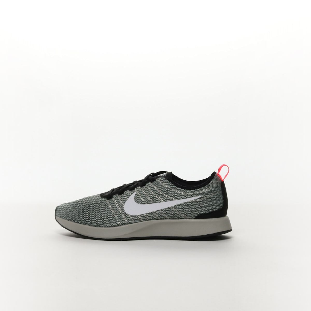 Men's Nike Dualtone Racer Shoe BLACKWHITE PALE GREY SOLAR RED