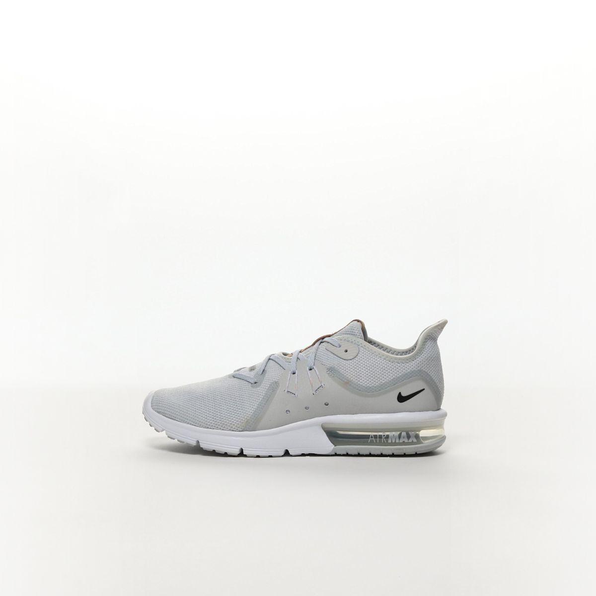 low priced 780f1 e209a Nike Air Max Sequent 3 Men s Running Shoe - PURE PLATINUM BLACK-WHITE –  Resku