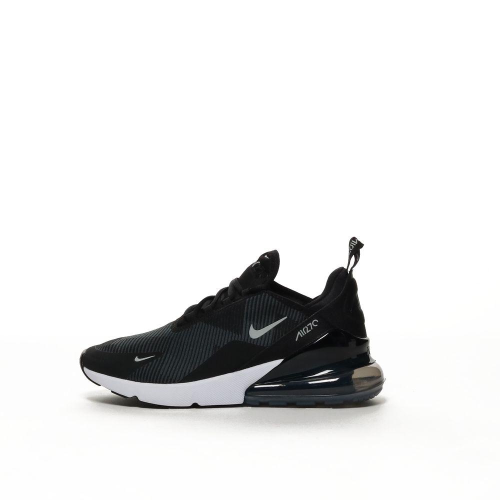 Nike Air Max 270 Knit Jacquard Boys' Shoe BLACKWOLF GREY DARK GREY WHITE