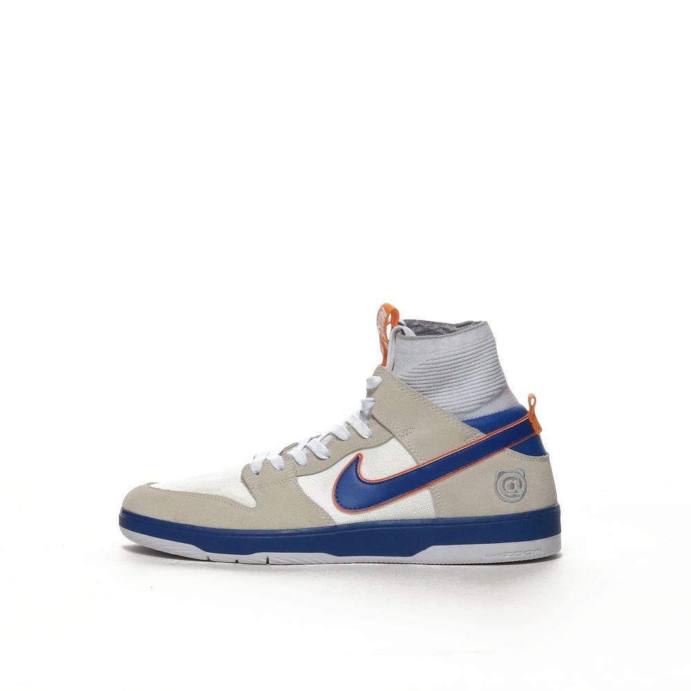 hot sale online a3e1e b5356 Men's Nike SB Zoom Dunk High Elite QS Skateboarding Shoe - WHITE/COLLEGE  BLUE-WHITE-GOLD POST