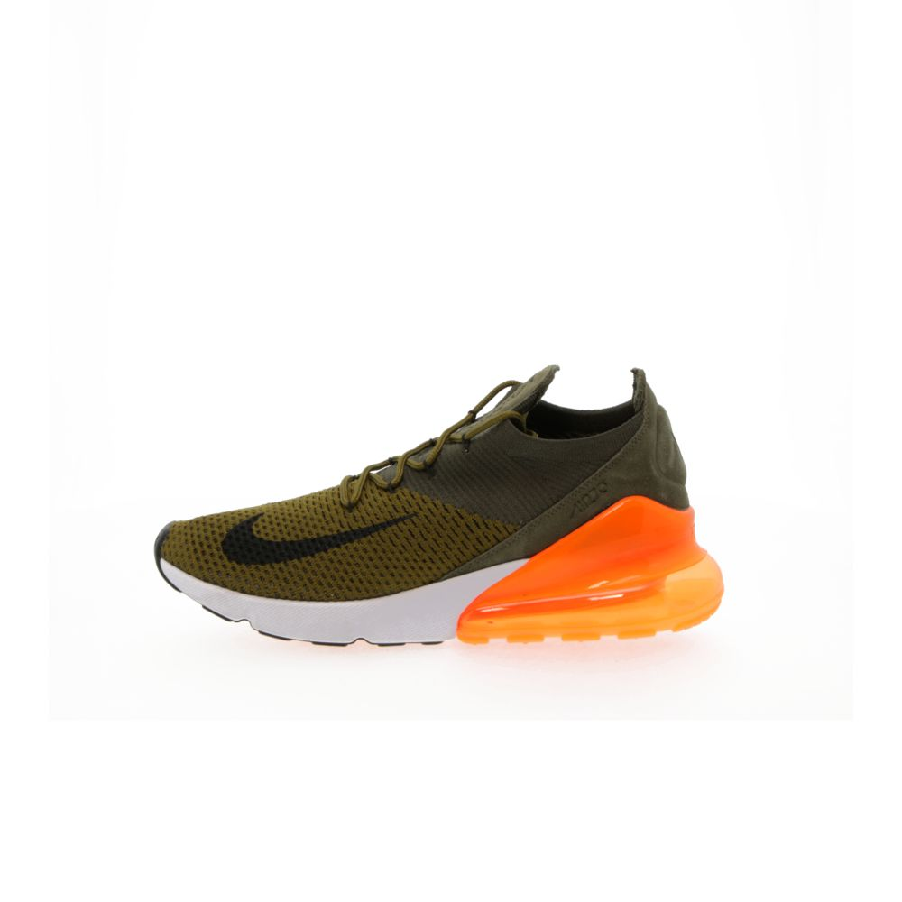 reputable site 2b1ba 68957 Nike Air Max 270 Flyknit - OLIVE FLAK/CARGO KHAKI/TOTAL ORANGE/BLACK