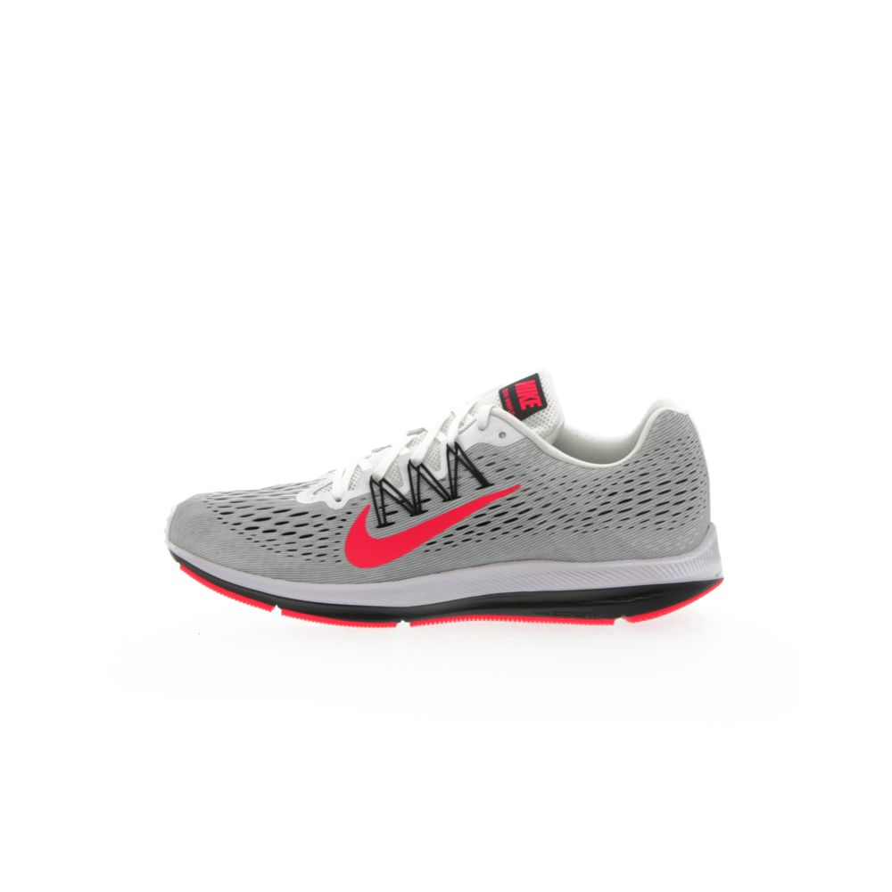 best website 21f9b 867a5 Nike Air Zoom Winflo 5 - WHITE/PURE PLATINUM/COOL GREY/RED ORBIT