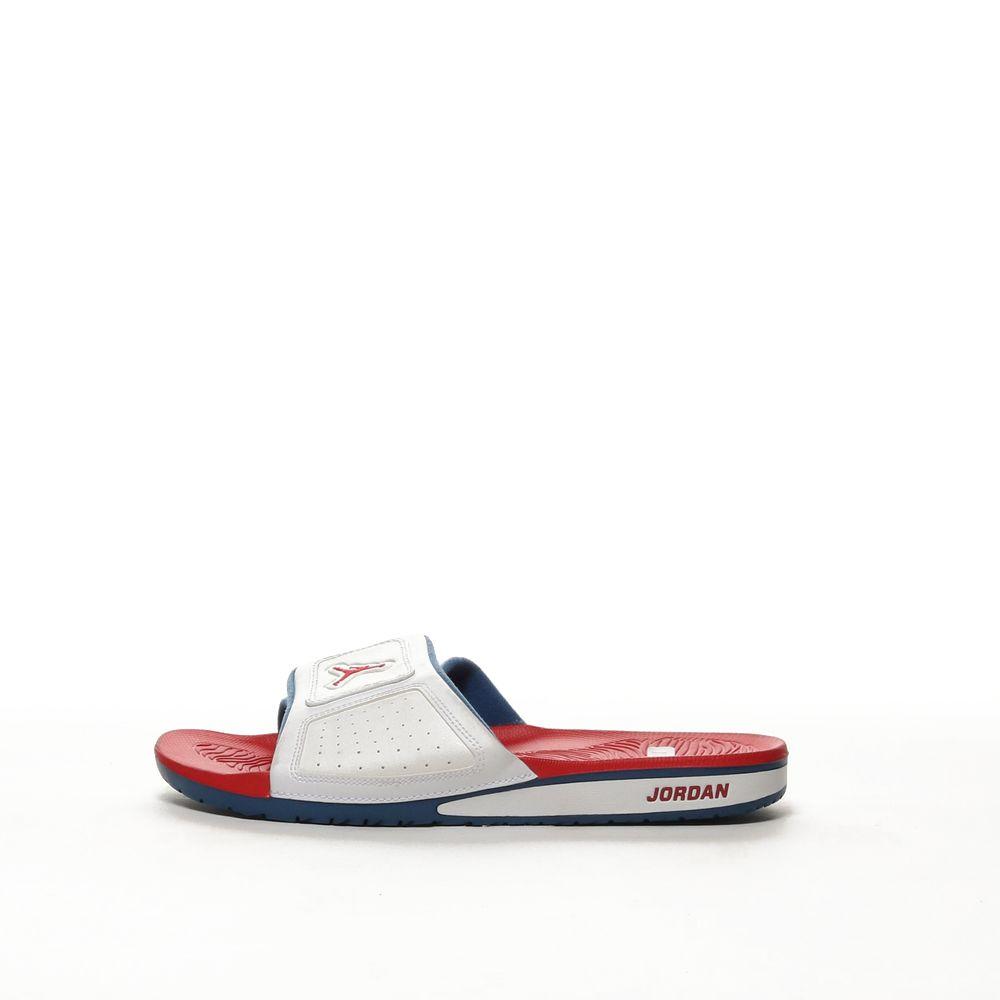 san francisco 6d624 315c2 Men's Jordan Hydro III Retro Slide - WHITE/FIRE RED-TRUE BLUE