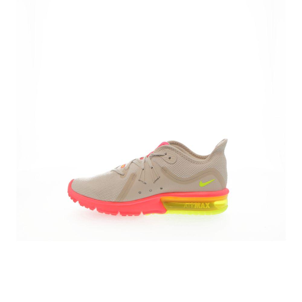 super popular 2832d 4580f Nike Air Max Sequent 3 Women's Running Shoe - LIGHT BONE/VOLT-HOT PUNCH