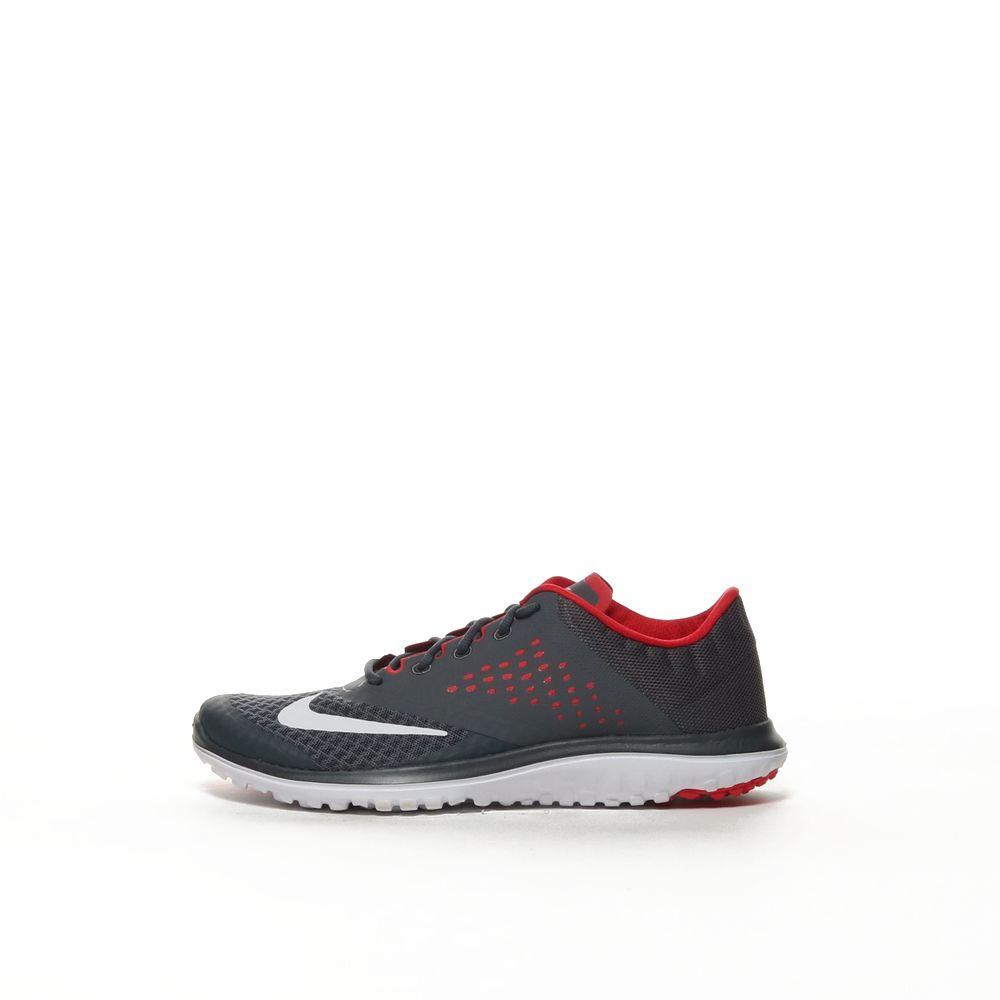 new concept 266fa 52d68 Men's Nike FS Lite Run 2 Running Shoe - DARK GREY/WHITE-UNIVERSITY RED