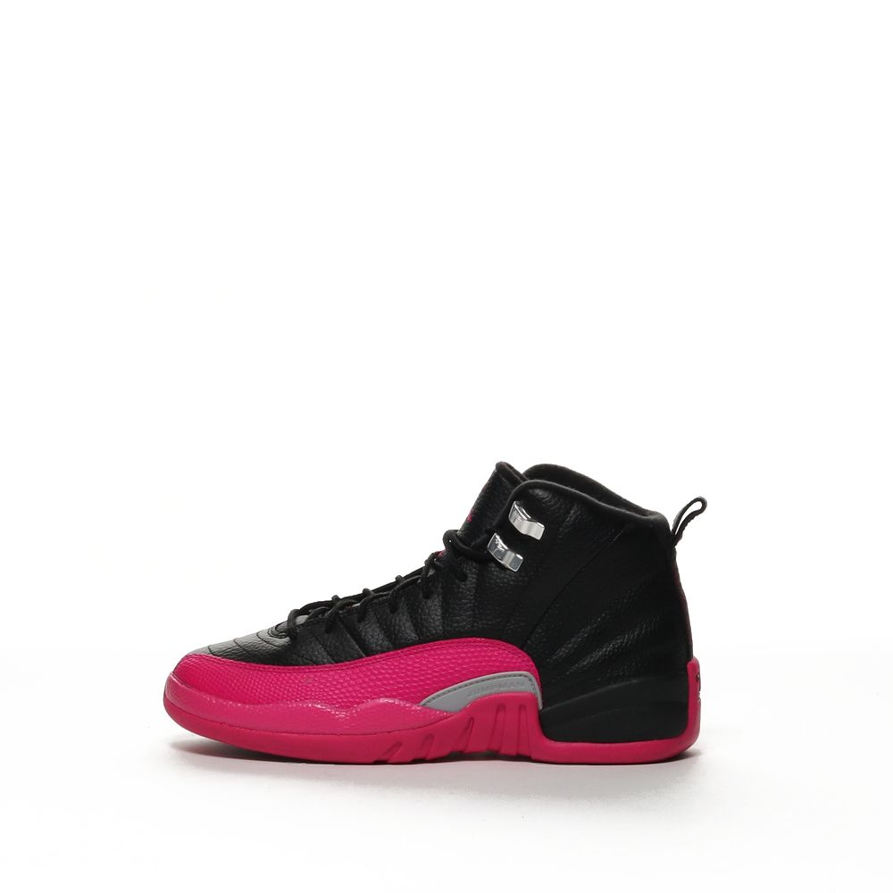 buy online b0965 08205 Air Jordan 12 Retro - BLACK/METALLIC SILVER/DEADLY PINK