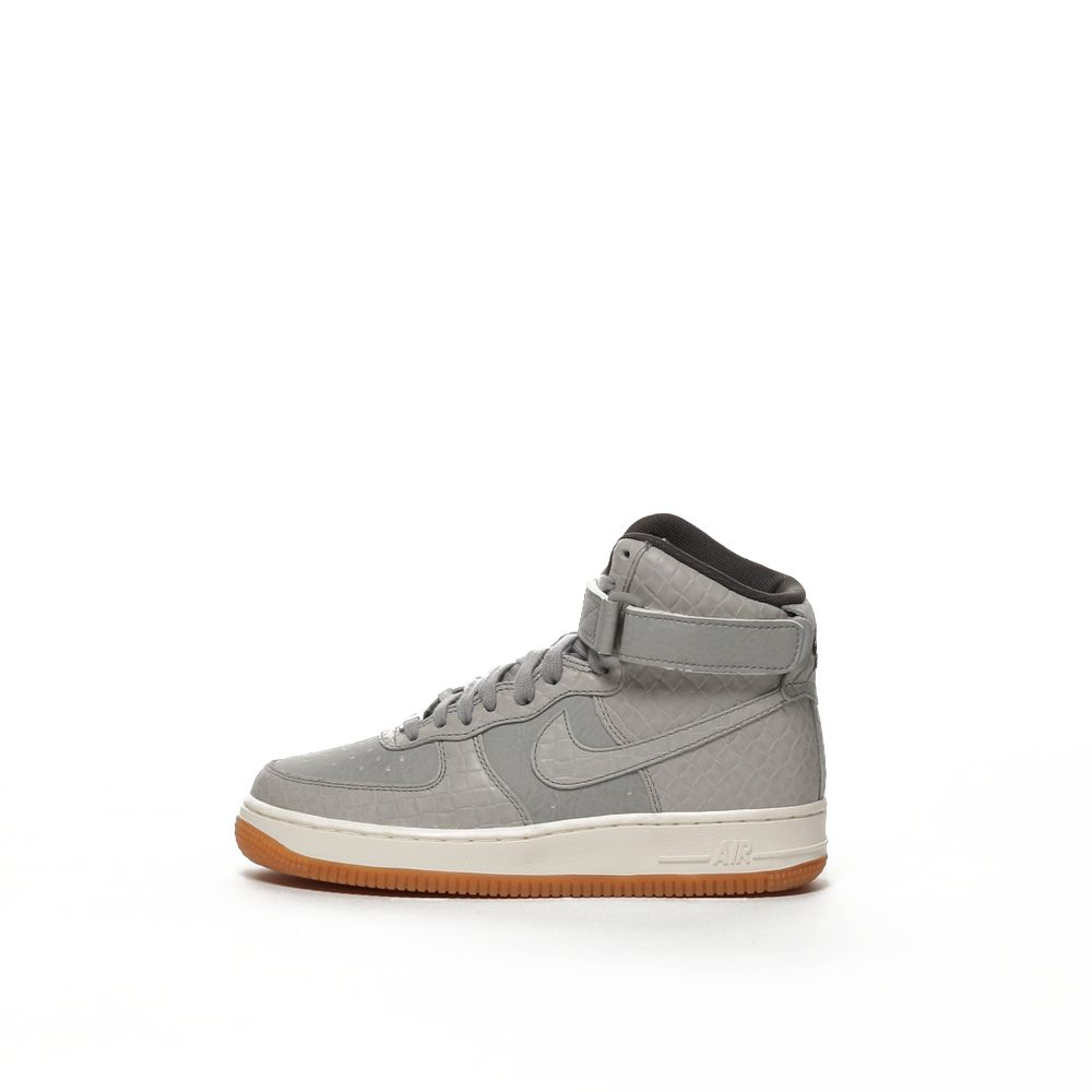 sale retailer d355d 38a11 Women's Nike Air Force 1 High-Top Premium Shoe - WOLF GREY/WOLF  GREY-MIDNIGHT FOG-SAIL