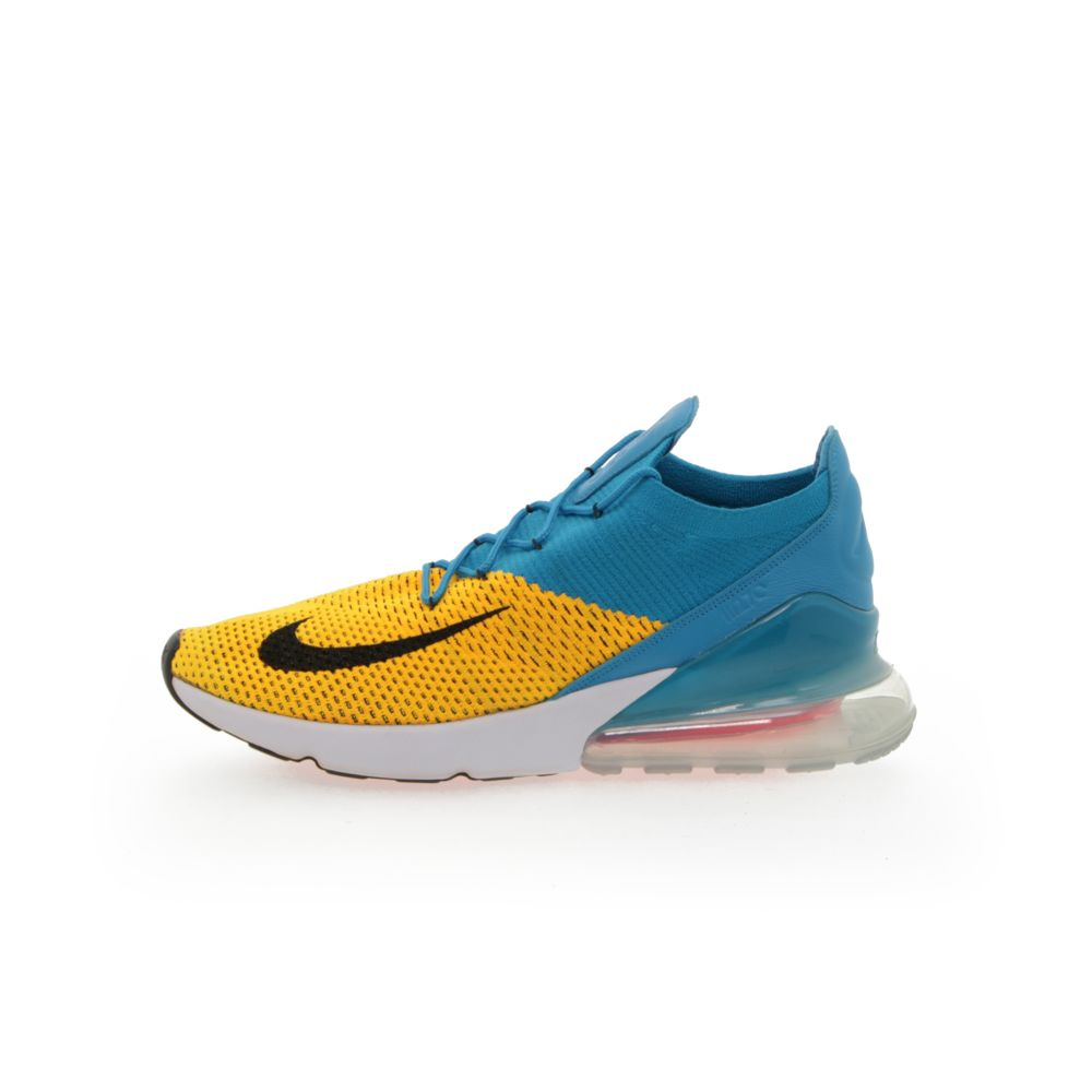 uk availability 72003 5963c Nike Air Max 270 Flyknit Men's Shoe - LASER ORANGE/BLACK-BLUE ORBIT